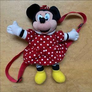 Vintage Minnie plush backpack